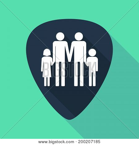 Long Shadow Plectrum With A Gay Parents  Family Pictogram