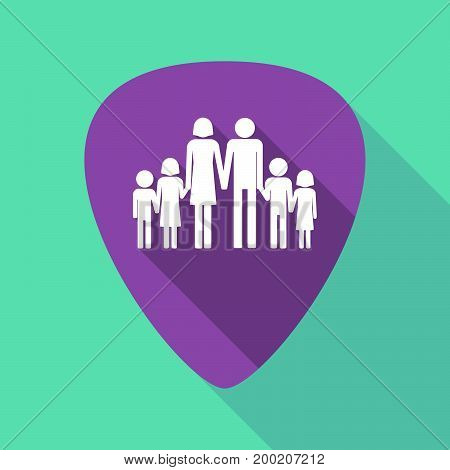 Long Shadow Plectrum With A Large Family  Pictogram