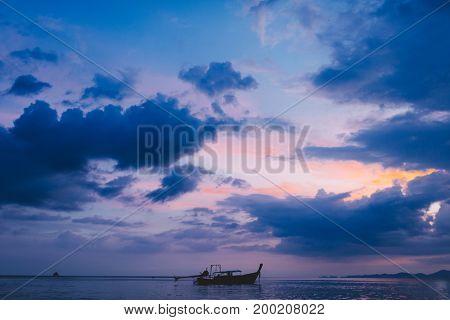 Long tail boat. Krabi. Thailand.2016