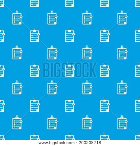 Check list pattern repeat seamless in blue color for any design. Vector geometric illustration