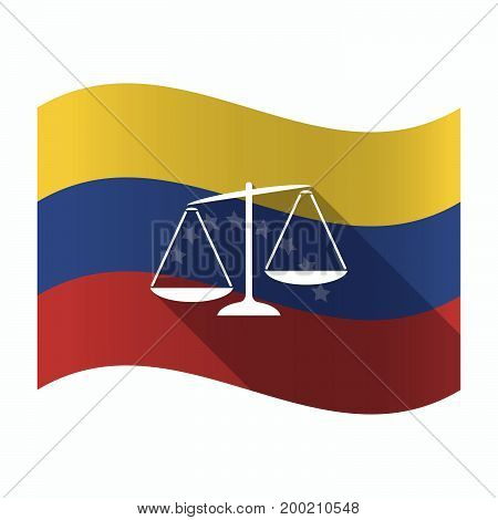 Isolated Venezuela Flag With  An Unbalanced Weight Scale