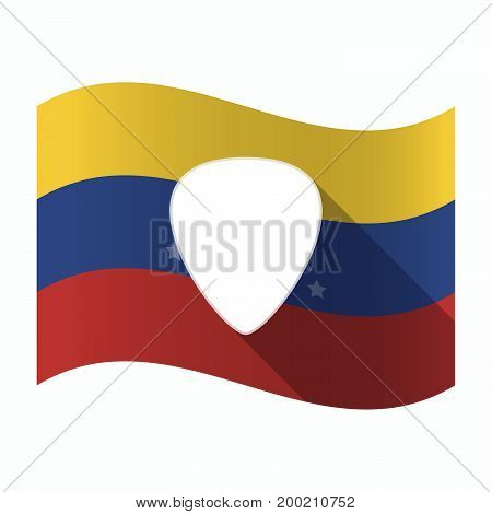 Isolated Venezuela Flag With A Plectrum