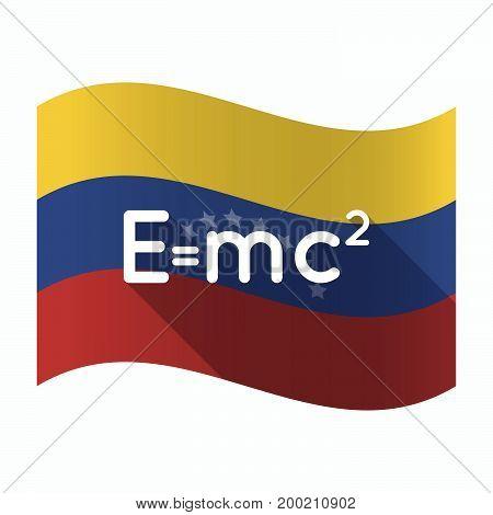 Isolated Venezuela Flag With The Theory Of Relativity Formula