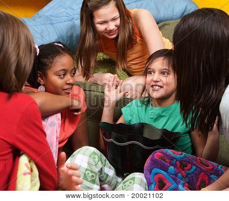 Little Girl Sharing A Joke