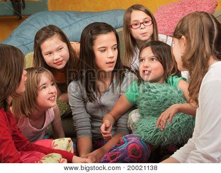 Little Girl Tells A Story
