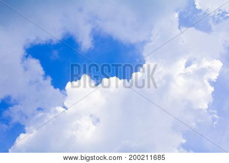 sky and Rain clouds in summer time beautiful background with copy space add text