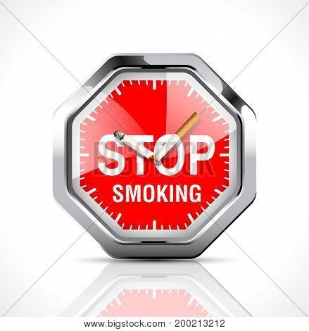 Time to quit smoking - stock illustration