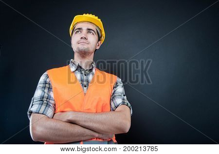 Hero Shot Of Constructor Standing With Arms Crossed