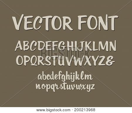Handwritten alphabet letters vector. ABC for your design. Easy to use and edit letters.