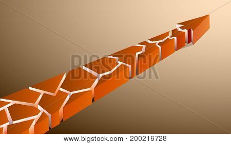 Orange arrow pointing up on a gray background