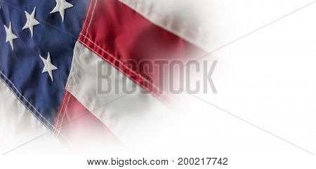 Full frame shot of stars and stripes in American flag