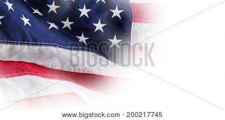 High angle view of an American flag