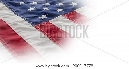 Full frame of cropped American flag