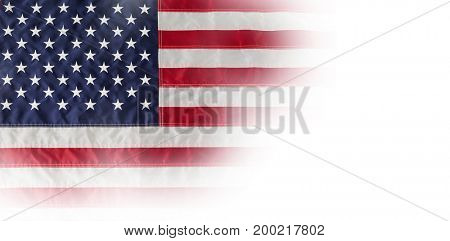 High angle view of American flag with stars and stripes