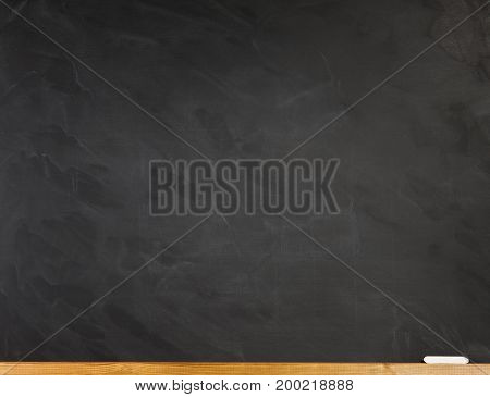 Clean classroom board with chalk. Back to school concept for your text design