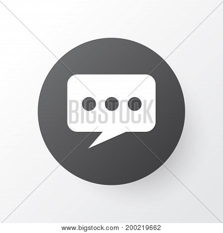 Premium Quality Isolated Message Element In Trendy Style.  Chat Icon Symbol.