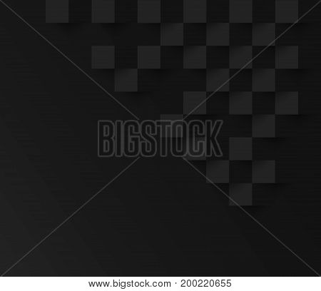 Black square geometric texture background Abstract square geometric texture.banner background web design for infographics business finance.