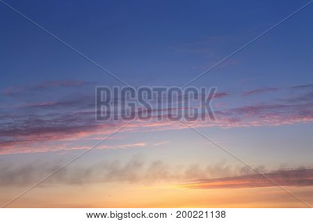 cloudy sky during sunrise bright spring photo Ukraine