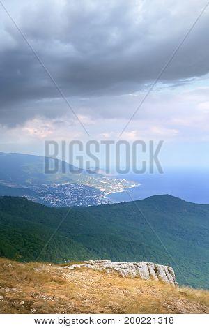 autumn journey the Crimea daylight picture of the infinite horizon