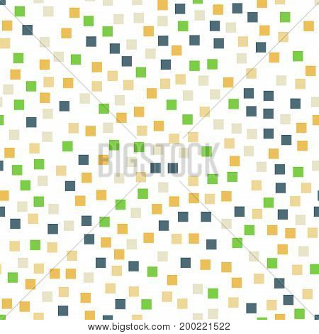 Abstract Squares Pattern. White Geometric Background. Outstanding Random Squares. Geometric Chaotic