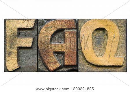 Faq Word Isolated