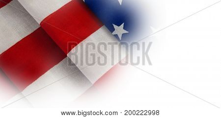 Full frame of folded American flag