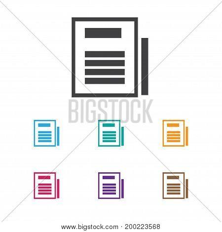 Vector Illustration Of Bureau Symbol On Sheets Icon