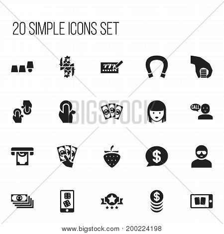 Set Of 20 Editable Game Icons. Includes Symbols Such As Bucks, Money, Thief And More