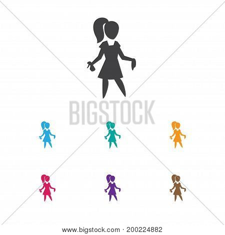 Vector Illustration Of Cleaning Symbol On Beauty Housewife Icon