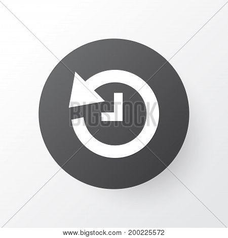 Premium Quality Isolated Deadline Element In Trendy Style.  History Icon Symbol.