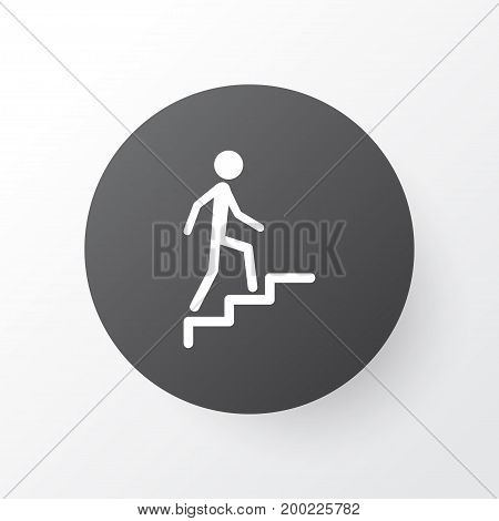 Premium Quality Isolated Ladder Element In Trendy Style.  Climbing Stairs Icon Symbol.