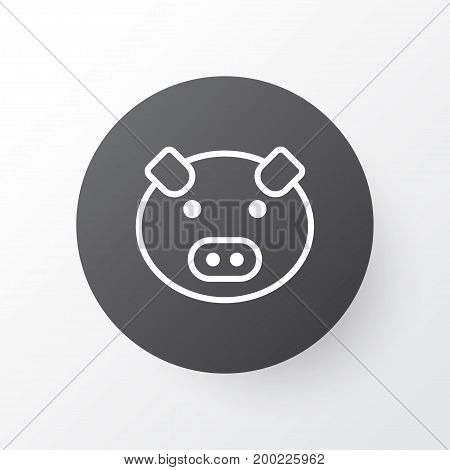 Premium Quality Isolated Piglet Element In Trendy Style.  Pig Icon Symbol.