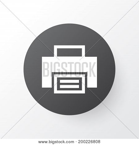 Premium Quality Isolated Printer  Element In Trendy Style.  Print Icon Symbol.