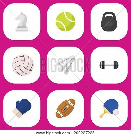 Set Of 9 Editable Training Flat Icons. Includes Symbols Such As Strategic, Touchdown, Miniball And More
