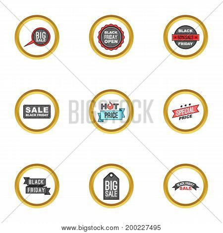 Coupon icons set. Cartoon illustration of 9 coupon vector icons for web design