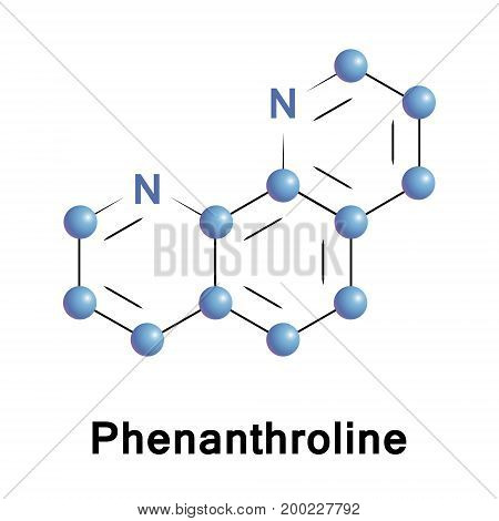 Phenanthroline is a heterocyclic organic compound. It is a white solid that is soluble in organic solvents. It is used as a ligand in coordination chemistry
