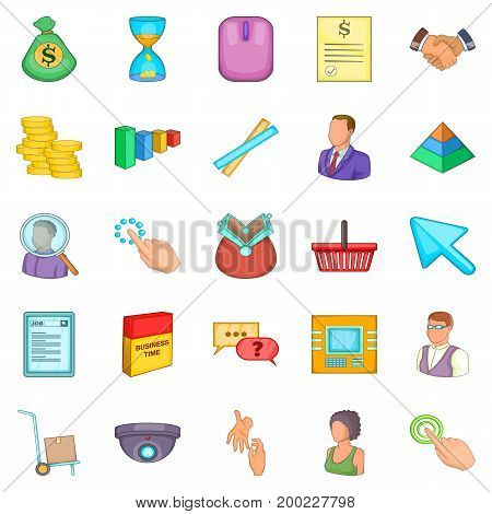 Corporation icons set. Cartoon set of 25 corporation vector icons for web isolated on white background