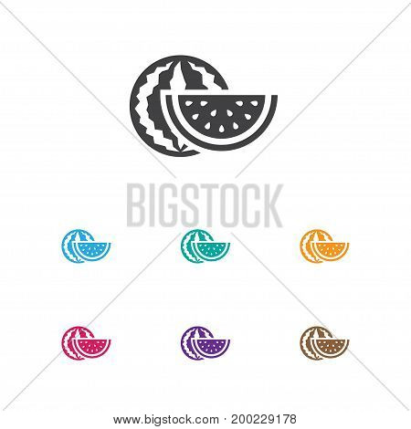 Vector Illustration Of Cooking Symbol On Melon Icon