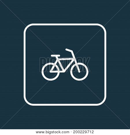 Premium Quality Isolated Bike Element In Trendy Style.  Bicycle Outline Symbol.
