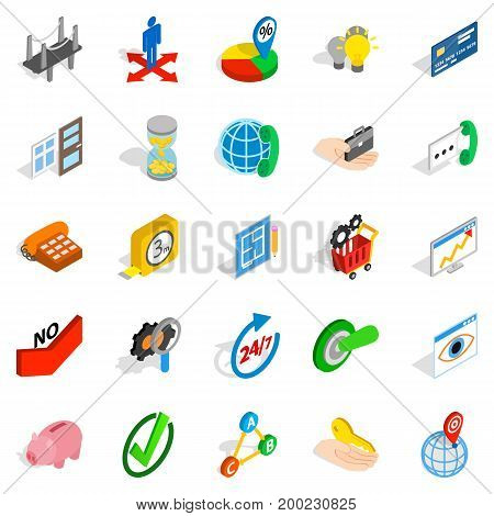 Manufacturing icons set. Isometric set of 25 manufacturing vector icons for web isolated on white background