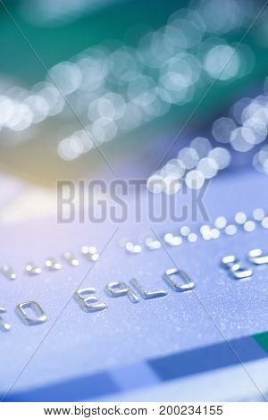 Selective focus credit card payment for background.