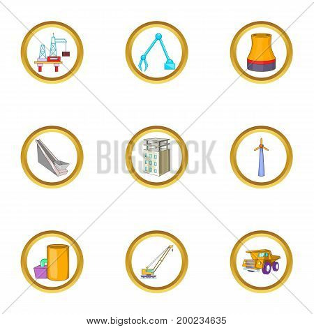 Construction icons set. Cartoon illustration of 9 Construction vector icons for web design