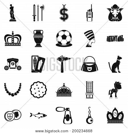 Crown icons set. Simple set of 25 crown vector icons for web isolated on white background