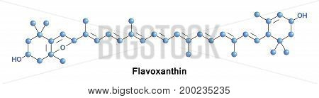 Flavoxanthin is a natural xanthophyll pigment with a golden-yellow color found in small quantities in a variety of plants