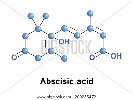 Abscisic acid is a plant hormone. ABA functions in many plant developmental processes, including bud dormancy, and can be involved in stress responses as well