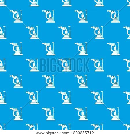 Phoropter pattern repeat seamless in blue color for any design. Vector geometric illustration