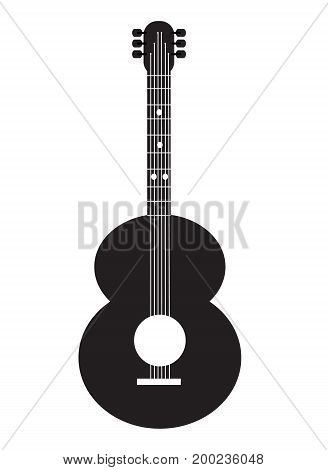 guitar icon on white background. guitar sign.