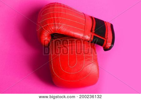 Boxing Gloves In Red And Black Colors