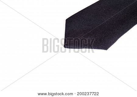 close-up of necktie isolated on white background