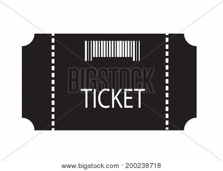 ticket icon on white background. flat style design. ticket sign.